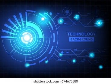 Abstract circle technology background vector concept design