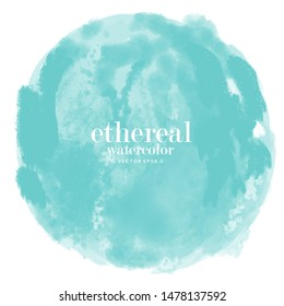 abstract circle water color illustration