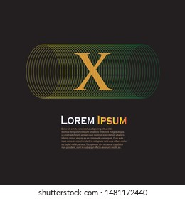 Abstract circle or wireframe with letter X for logo. Suitable for creative and business industries. Letter X logo design for all webpage and mobile.