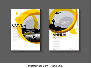 abstract Circle Yellow  cover design modern book cover abstract Brochure cover  template,annual report, magazine and flyer layout Vector a4