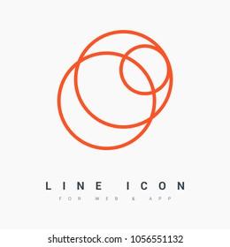 Abstract circles line vector icon