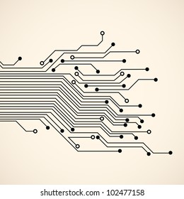 Abstract circuit background.Vector eps10