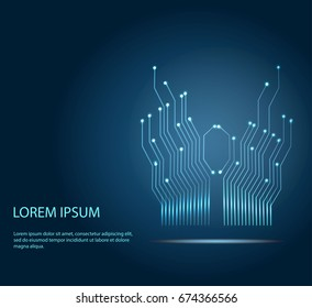 Abstract circuit board background. Technology modern background for design. Vector illustration