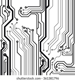 Abstract circuit board techno background. EPS10 vector illustration pattern
