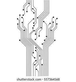 Abstract circuit tree board. Technology modern background for design. Vector illustration