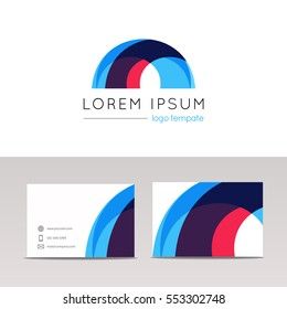 Abstract circular arc logo icon sign company arch logotype vector design