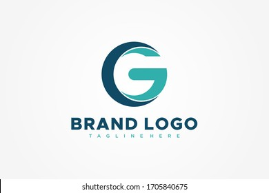 Abstract Circular Initial Letter G Logo. Usable for Business and Technology Logos. Flat Vector Logo Design Template Element.