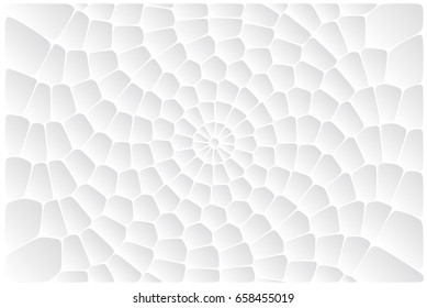 Abstract circular white background. Voronoi shapes texture