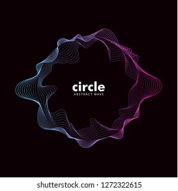 Abstract cirlce wave sound effect. Gradient color, line pattern. vector element eps 10.