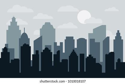 Building Silhouette Images, Stock Photos & Vectors ...