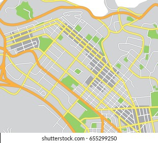 Abstract city map. Vector illustration
