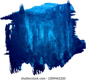 Abstract classic blue watercolor hand paint texture, isolated on white background, watercolor textured backdrop, watercolor drop, traced, vector eps 10