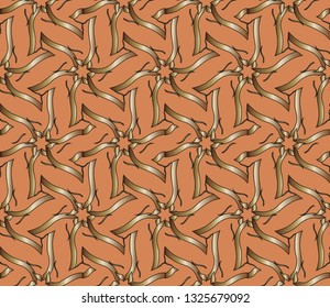 abstract classic golden pattern.     Background image. Abstract decorative vintage texture. Seamless  illustration for design. metal mosaic on a colored background.
