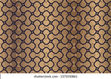abstract classic golden pattern. Background image. Abstract decorative texture. Modern pattern. metal mosaic on a colored background. Luxury vector pattern.