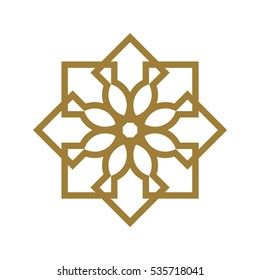Abstract clean arabic vector Logotype. Ir can be extended endlessly and seamlessly.