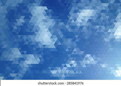 Abstract Clear Sky Geometric Triangular Low Poly. Vector Illustration