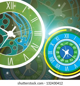 abstract clock vector background eps 10