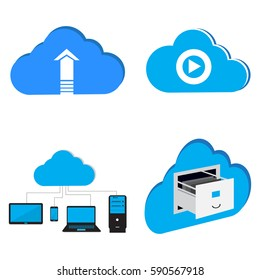 Abstract cloud computing graphic designs, Vector illustration