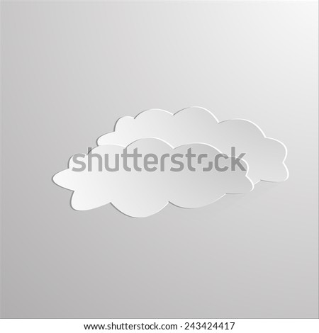 graphic regarding Printable Clouds Cut Out identified as cloud minimize out -