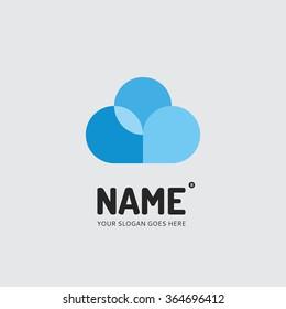 Abstract cloud, logo design vector template. Symbol concept icon.