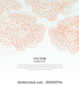 abstract cloud sky vector grunge wallpaper background pattern cover and card design