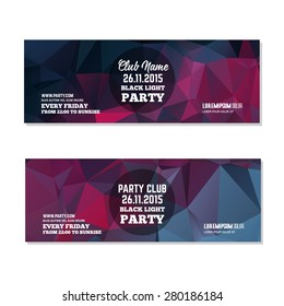 Abstract club flyer template. Abstract background to use for music event posters or album covers.