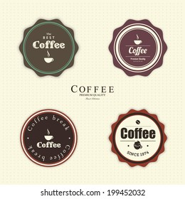 abstract coffee labels on a special background