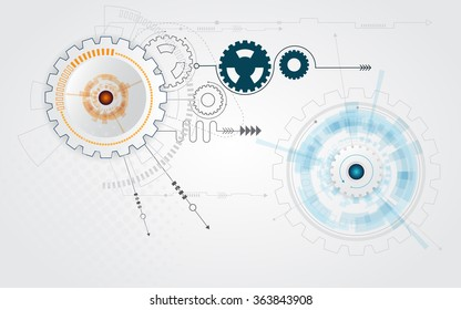 abstract cog gear wheel technology background vector illustration