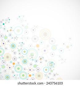 Abstract cogwheel technology net background. Vector
