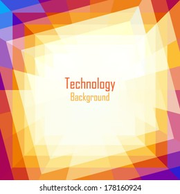 Abstract Coloful Technology Background. Vector illustration