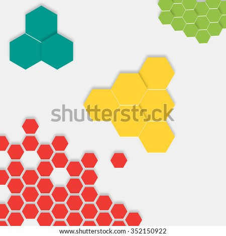 abstract color 3 d hexagon pattern background stock vector royalty