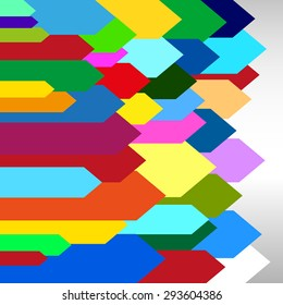 abstract color arrow background - vector graphic