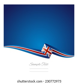 Abstract color background British flag vector