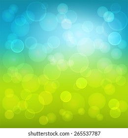Abstract color background with circles