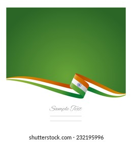Abstract color background Indian flag vector