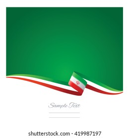 Abstract color background Iran flag vector