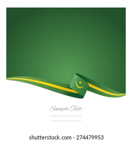 Abstract color background Mauritania flag vector