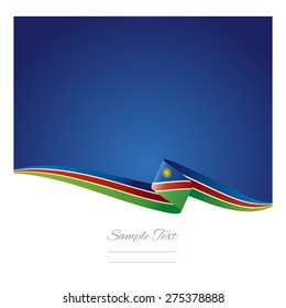 Abstract color background Namibia flag vector