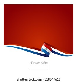 Abstract color background Paraguay flag vector