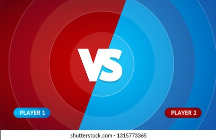 Abstract Color Background with Versus Sign Battle, Sport Challenge for Championship or Game. Vector illustration of VS Concept