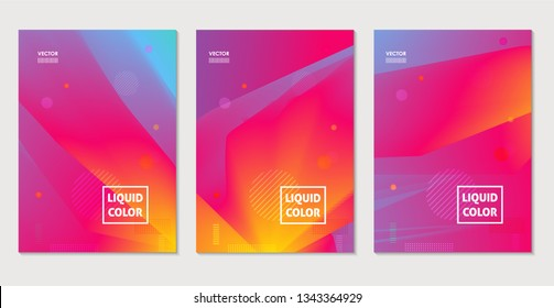 Abstract color backgrounds. Minimal futuristic gradient design. Back and front flyer template.Cover layout for corporate business book, booklet, brochure, poster, banner, leaflet. Vector
