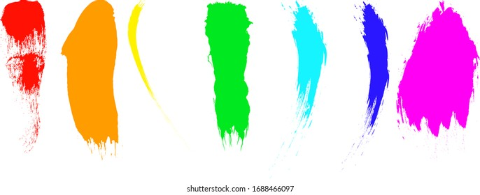 Abstract color brush strokes, seamless background.