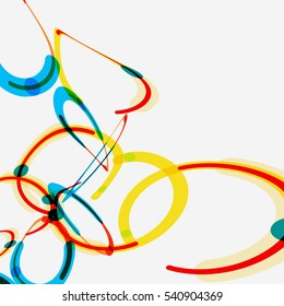 abstract Color circle pattern