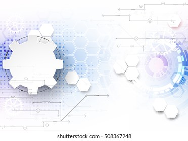 Abstract color digital communication technology background. Vector illustration