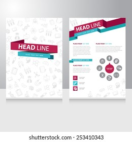 Abstract color Education study Brochure Flyer design vector template
