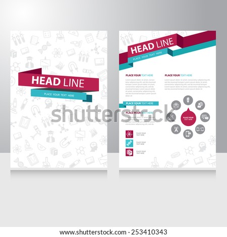 Abstract Color Education Study Brochure Flyer Stock Vector Royalty