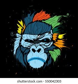 Abstract color gorilla