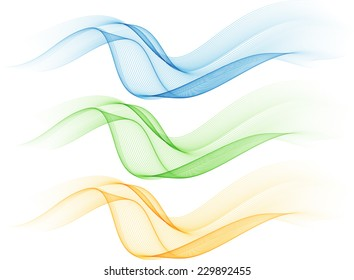 Abstract color isolated waves