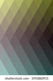 Abstract color Low-Polygones Generative Art background illustration