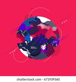 Abstract color modern geometric composition